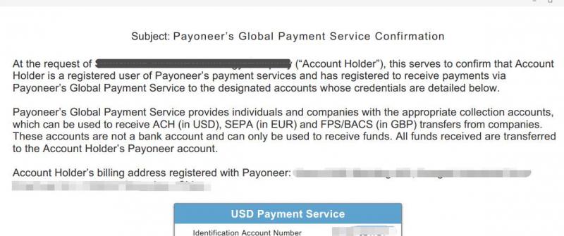 跨境电商卖家没有信用卡该如何申请谷歌云300美元赠金?试试Payoneer签发的美国银行账号来验证谷歌云 17
