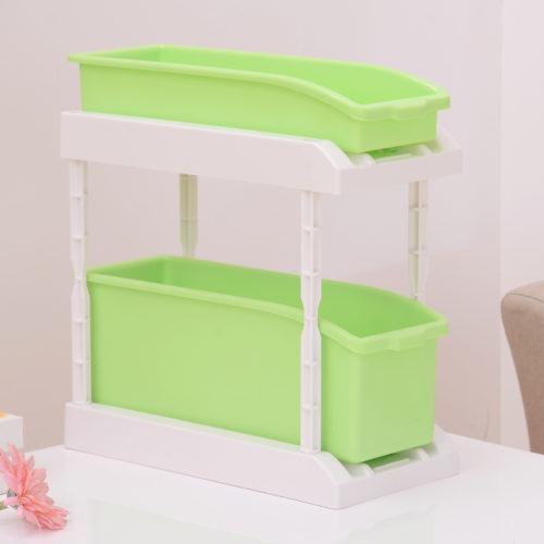 双层收纳盒绿色 5