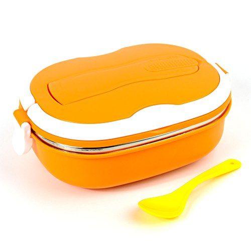 不锈钢饭盒橘色 2